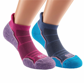 1000 MILE WOMEN'S RUN SOCKLET TWIN PACK